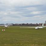 Einer der ersten Segelflugstarts im Jahr 2013.
